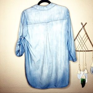 Anthropologie Tops - Cloth & Stone   Chambray Popover